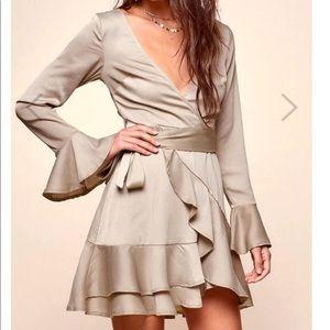 NEVER WORN Selfie Leslie Olive Wrap Dress Large